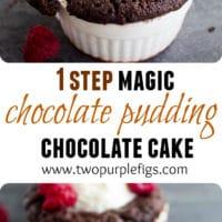 Chocolate Pudding Cakes -Pin