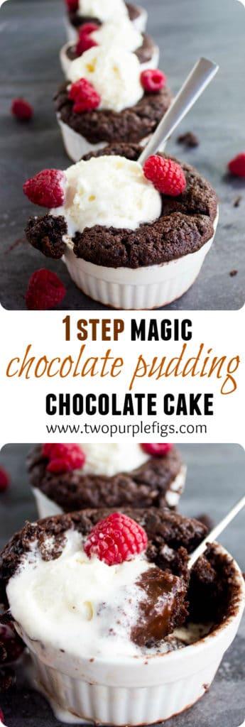 Chocolate Pudding Cakes -Pin