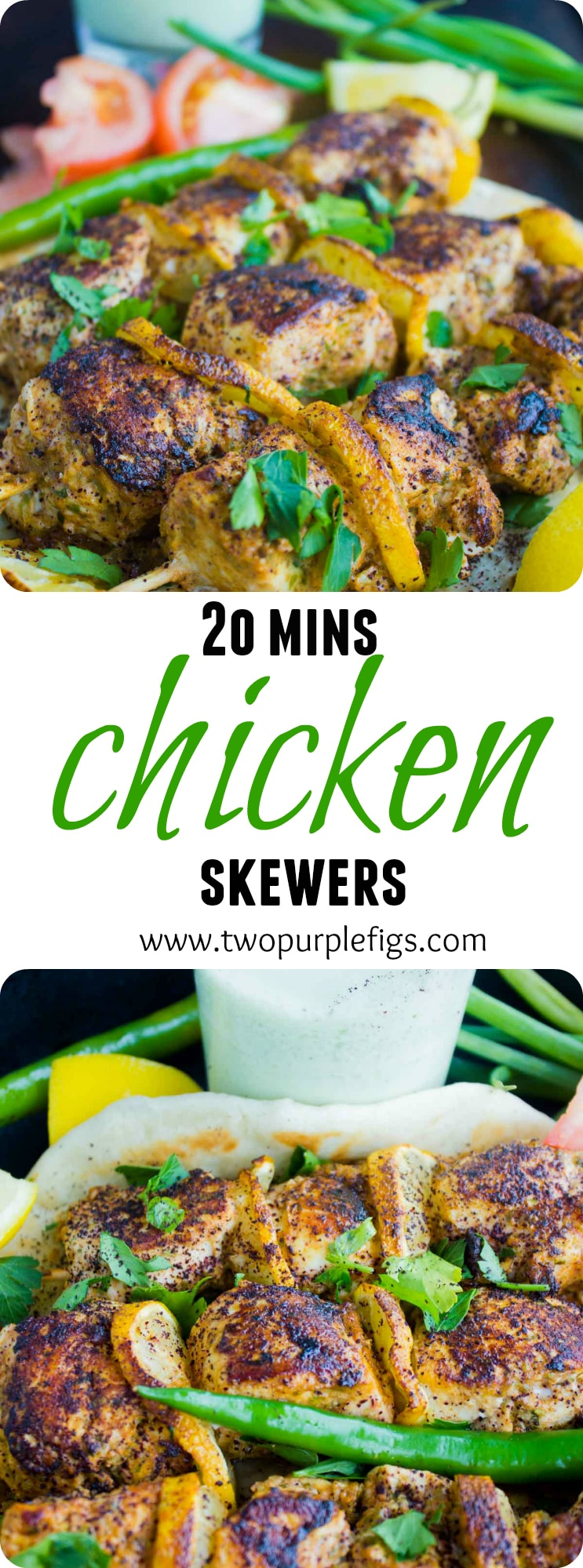 Turkish Grilled Chicken Skewers| These Grilled Chicken Skewers marinated in a Turkish spice mix and yogurt are every bit as juicy and flavorful as they look. Serve these easy skewers with a glass of my homemade Turkish Ayran for the ultimate low carb healthy chicken dinner! #chicken, #kebap, #turkish, #easy, #bbq, #grilled, #summer,