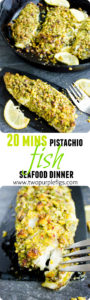 Pesto Pistachio Crusted Tilapia Fillets #healthy, #tilapia, #baked, #dinner, #lowcarb, #keto, #simple