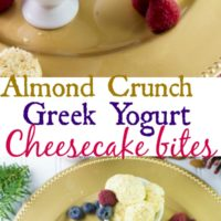 Almond Crunch Greek yogurt Cheesecake Bites - Pin