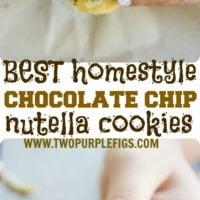 Nutella-Stuffed Chocolate Chip Cookies - Pin