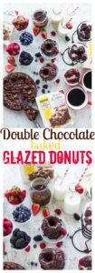 Double Chocolate Glazed Donuts
