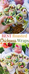 Roasted Chickpeas Wraps - Pin