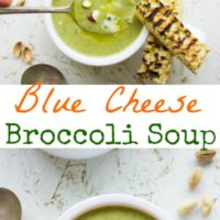 Blue Cheese Broccoli Soup - Pin
