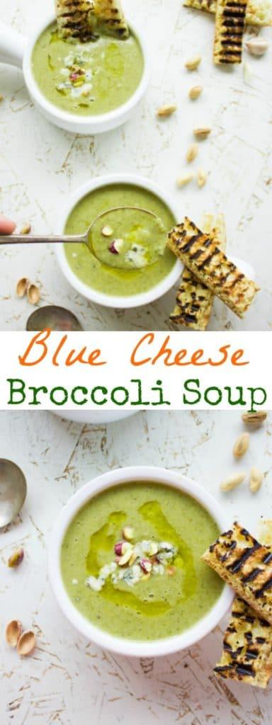 Blue Cheese Broccoli Soup - Pin