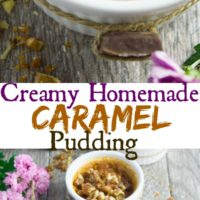Long pin for CREAMY HOMEMADE CARAMEL PUDDING