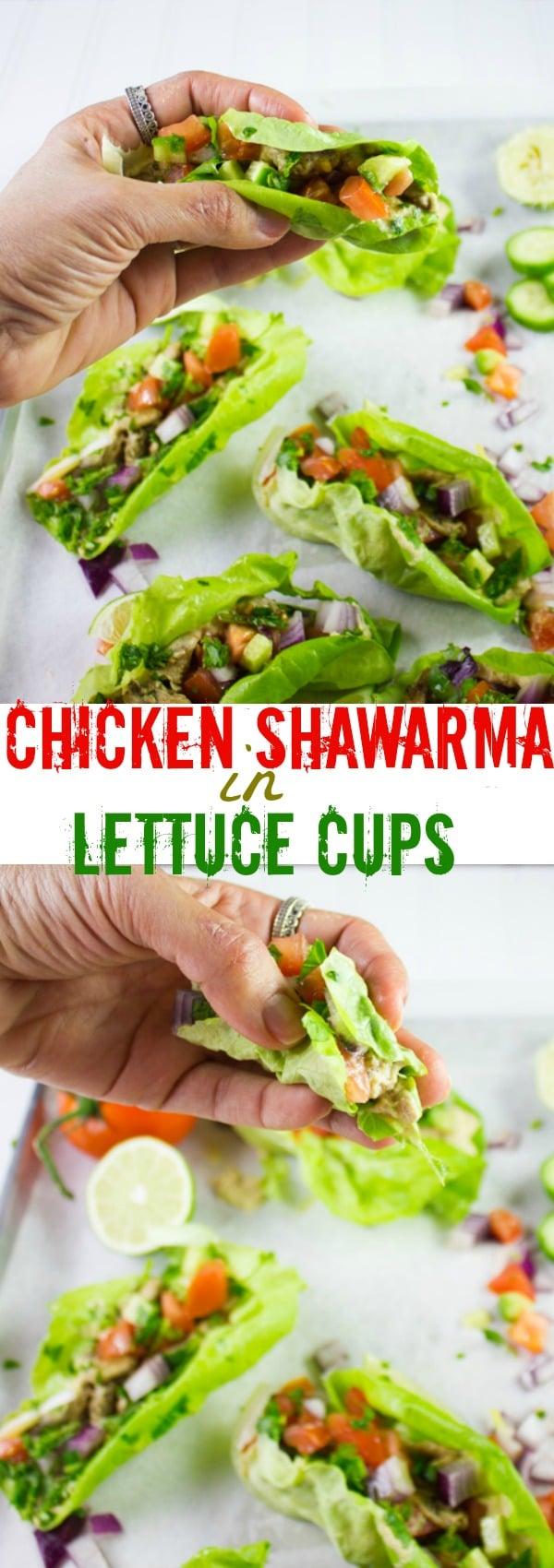 Chicken Shawarma Cups - Pin