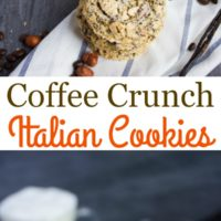 Coffee Crunch Italian Cookies