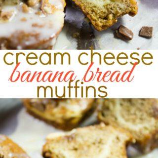 Cream Cheese Banana Bread Muffins