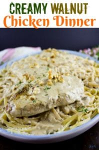 creamy walnut chicken dinner