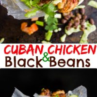 Cuban Chicken and Black Beans