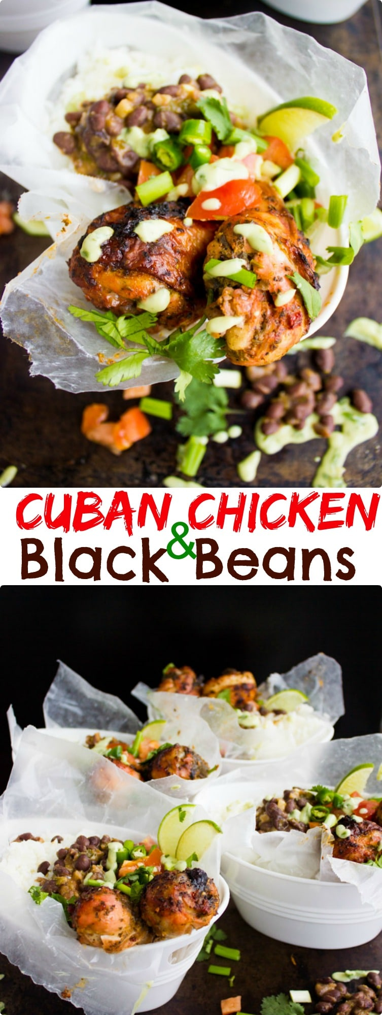 This Cuban Black Beans Chicken and Rice recipe will take you straight to the streets of Miami! An easy comfort food chicken dinner you will make over and over again. #cubanrecipes, #cubanblackbeans, #chickenandrice, #cubanstreetfood