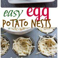 Easter Egg Tart Potato Nests