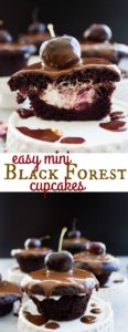 Easy Mini Black Forest Cupcakes