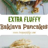 Fluffy Baklava Pancakes