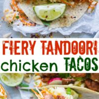 Tandoori Chicken Tacos with Cilantro Corn Slaw - Pin