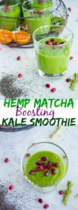Hemp Matcha Kale Power Boosting Smoothie - Pin