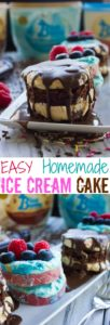 Mini Ice Cream Cakes - pin
