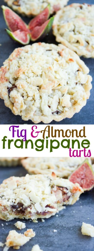 Fig Almond Frangipane Tart - pin