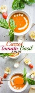 Carrot Tomato Basil Soup - Pin