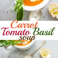 Carrot Tomato Basil Soup - Pin