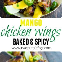 Sweet & Spicy Baked Chicken Wings - Pin