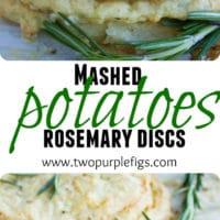 Mashed Potato Rosemary Disks