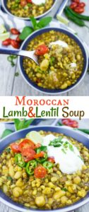 Moroccan Lamb and Lentil Soup - Pin