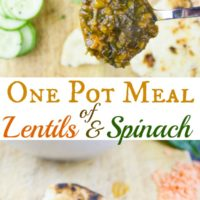 North African spinach and lentil stew -pin
