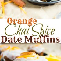 Orange Chai Spice Date Muffins - Pin