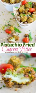 Long Pin for Pistachio Fried Caprese Bites