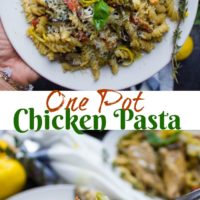 Creamy One-Pot Chicken Pasta - Pin