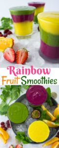 long pin Rainbow Fruit Smoothie Recipes