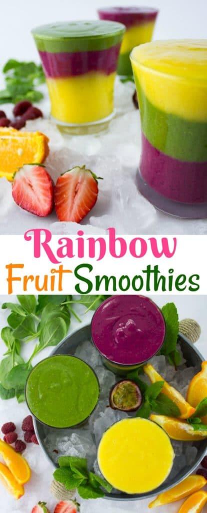 long pin Rainbow Fruit Smoothie Recipes