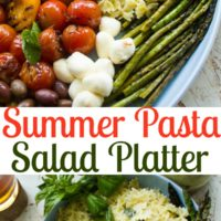 Summer Pasta Salad Platter with Sweet Tea Dressing | www.twopurplefigs.com | #healthy, #vegetarian, #salad, #simple, #vegetables,