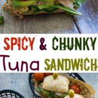 Spicy Chunky Tuna Sandwich