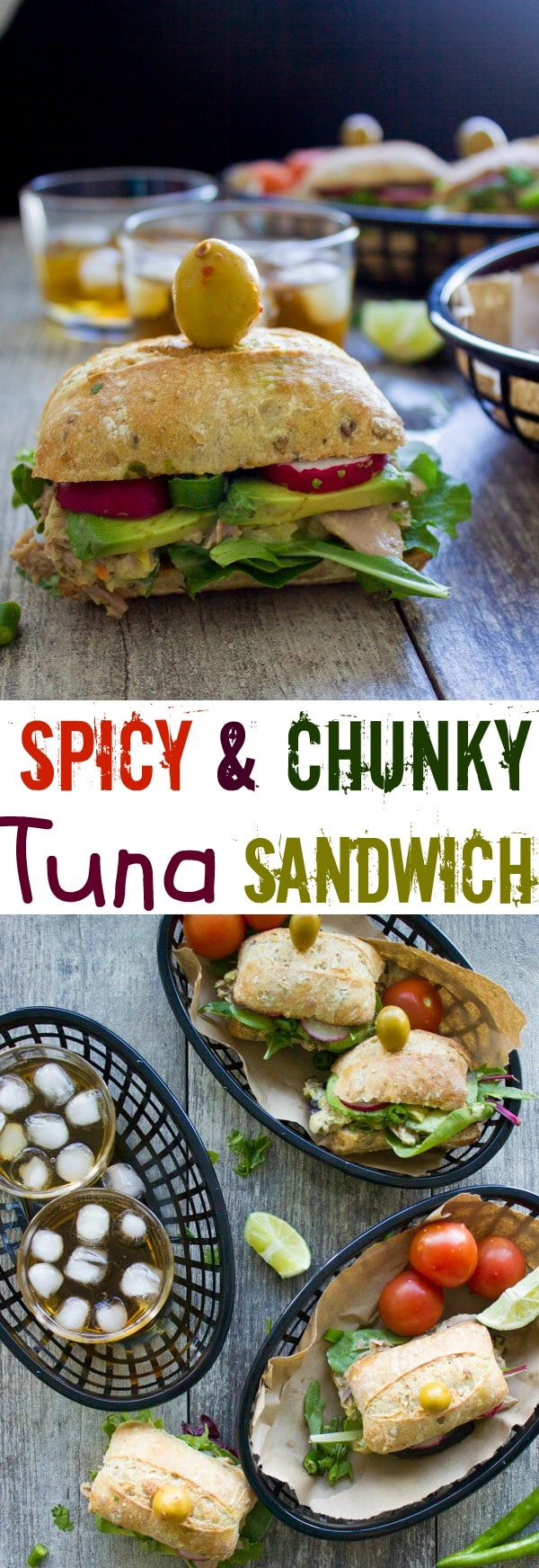 Spicy Chunky Tuna Sandwich| Tired of soggy tuna salad sandwiches? My Ultimate Tuna Sandwich recipe with a healthy no-mayo tuna salad and easy instructions for preventing sogginess might change your whole view on this classic lunch sandwich! #sandwich, #easy, #lunch, #tuna, #healthy, #mealprep, #tunasalad