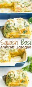 Butternut Squash Lasagna with Amaretti and Basil Bechamel - Pin
