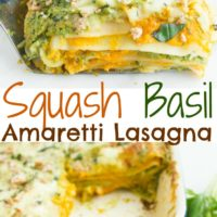 Butternut Squash Lasagna with Amaretti and Basil Bechamel - Pin