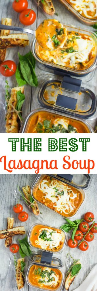 The best lasagna soup - pin