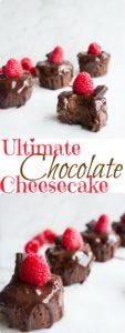 Ultimate chocolate cheesecake - pin