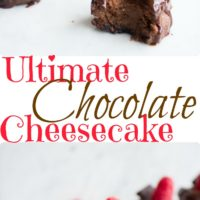 Ultimate chocolate cheesecake - pin