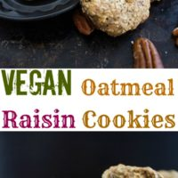 Vegan Oatmeal Raisin Cookie - Pin