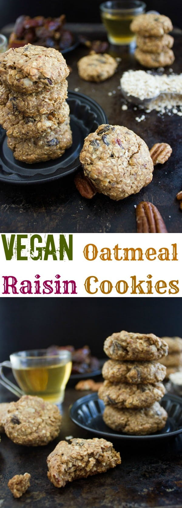 My vegan oatmeal raisin cookies are a healthy, gluten-free twist on everyone's favorite breakfast cookie. An easy-to-make, wholesome, naturally sweetened oatmeal cookie perfect for fuelling your day!#cookierecipes, #oatmealcookies, #oatmealraisincookies, #veganbaking