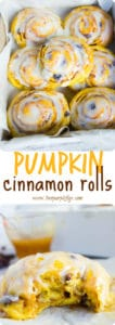 Pumpkin Cinnamon Rolls - Pin