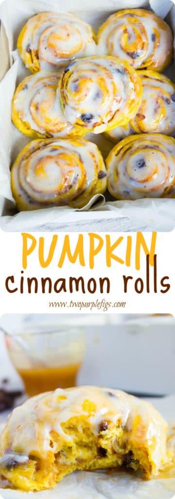 Pumpkin Cinnamon Rolls - Pin