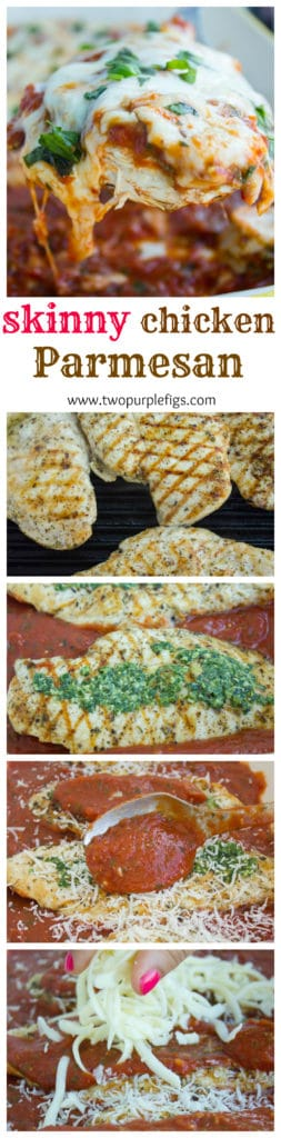 long pin skinny grilled chicken parmesan