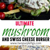 Mushroom Swiss Burger - Pin