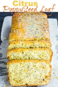 Long Pin for Citrus Poppy Seed Loaf with Yogurt Glaze